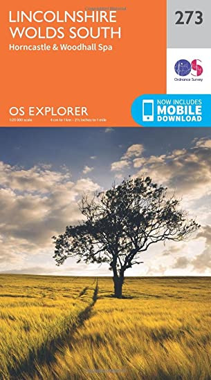 OS Explorer Map 273 Lincolnshire Wolds South, OS Explorer Paper Map ...