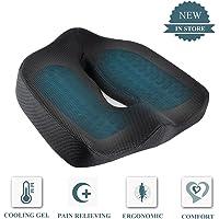 GuanZo Coccyx Memory Foam Seat Cushion, Orthopedic Chair Pad For Prolonged  Sitting, Premium Gel
