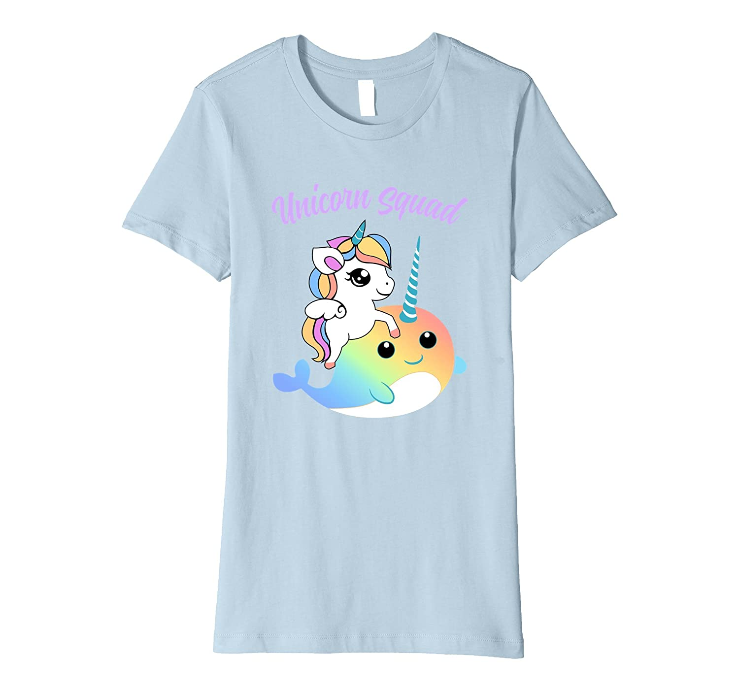 Cute Unicorn Squad t-shirt with Unicorn and Narwhal buddy-Newstyleth