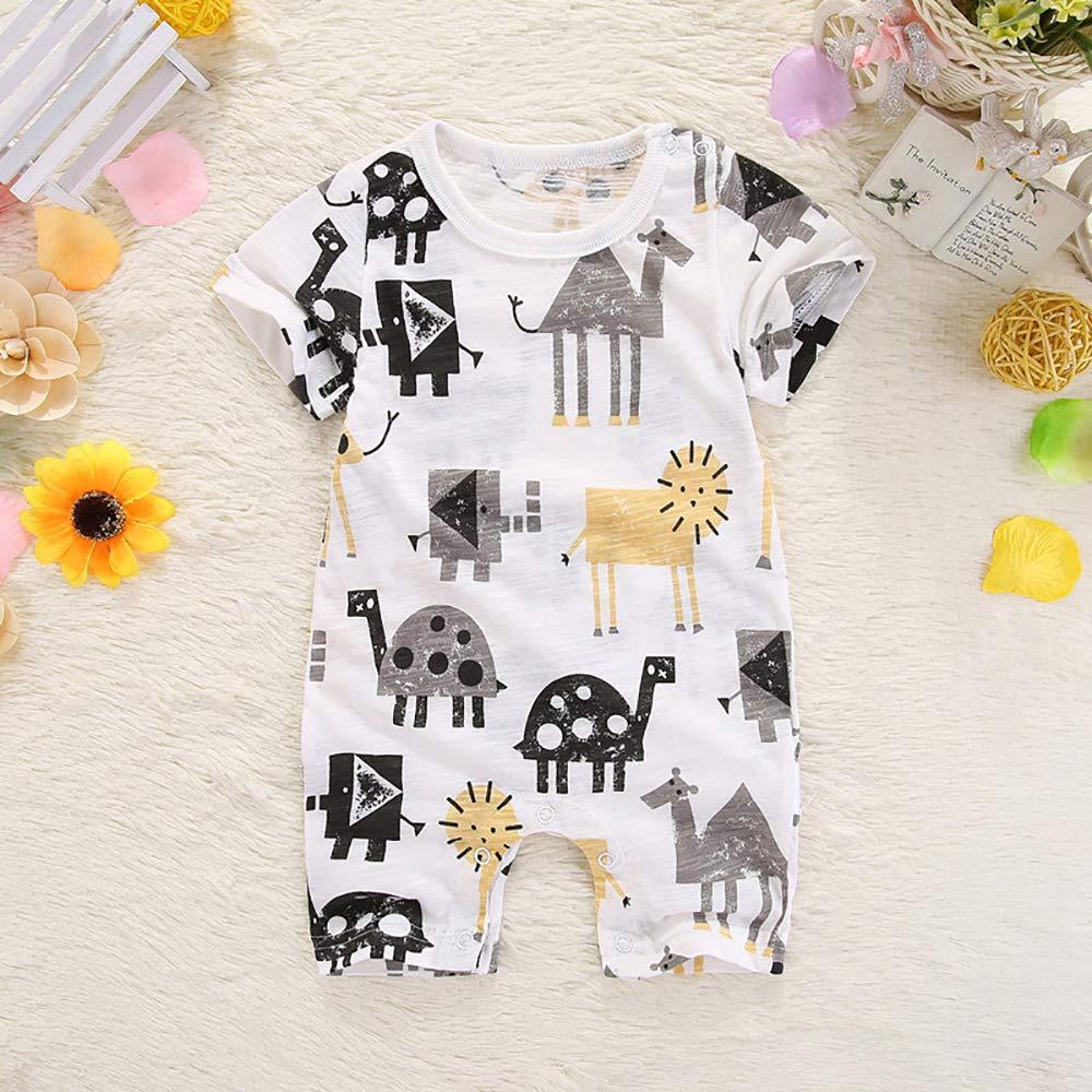 SeClovers Baby Boys Mastache Romper-Newborn Bowtie Jumpsuit,Summer Wear BY70A