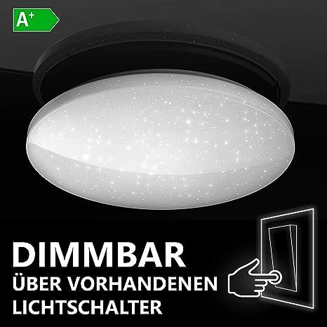 Lumira Led Deckenleuchte Sternenhimmel 24w Deckenlampe Dimmbar