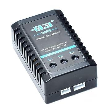 Amazon.com: APMIX B3 3S Cargador de batería Lipo 7,4-11,1 V ...