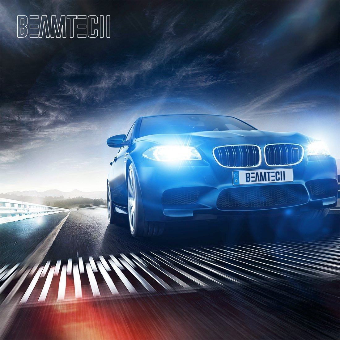BEAMTECH 9007 LED Headlight Bulb,CSP Chips 50W 8000 Lumens 6500K Xenon White Extremely Bright Conversion Kit of 2 by BEAMTECH (Image #8)