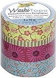 Folia 26405 Lot de 4 rubans autocollants Washi Tape Motifs floraux