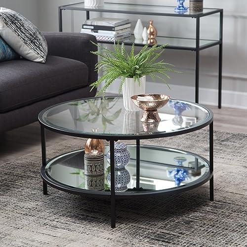 Lamont Round Coffee Table – Black