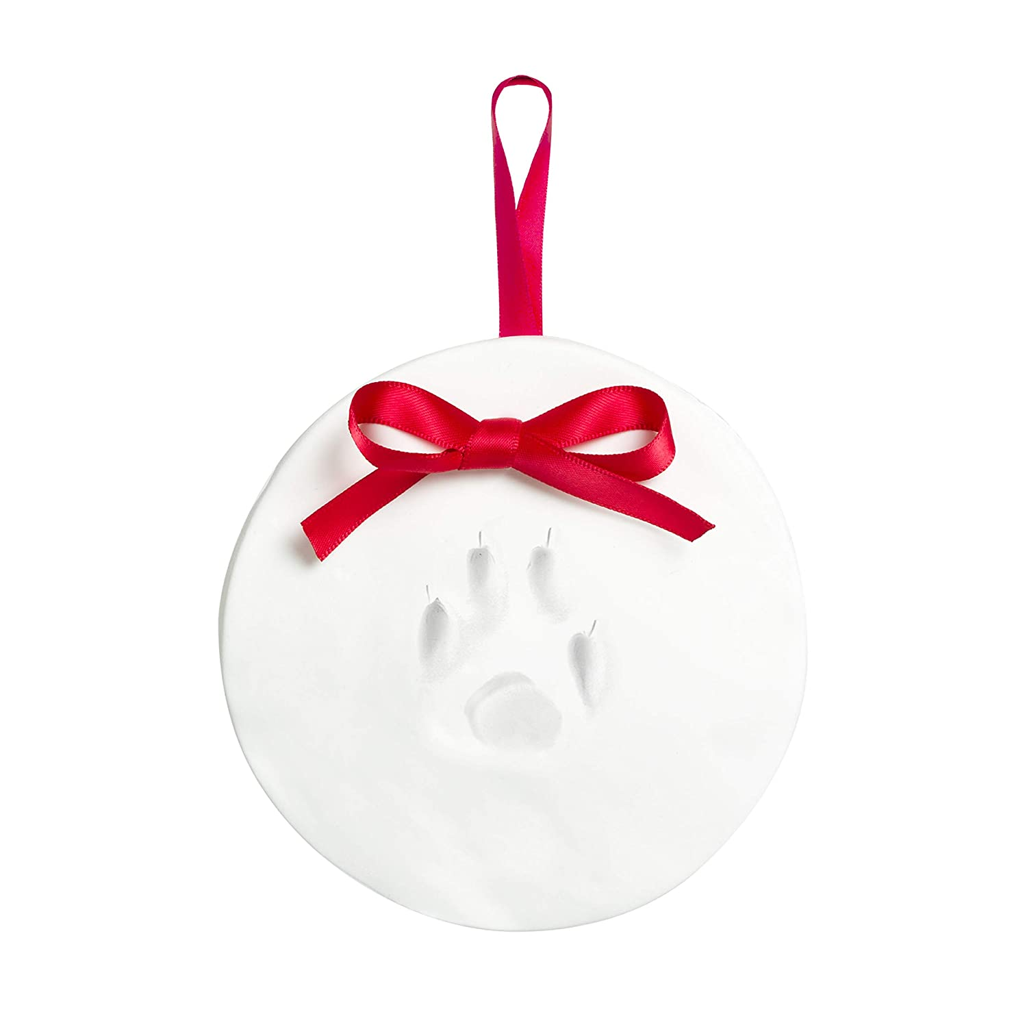 Tiny Ideas Pet Paw Prints Dog or Cat DIY Holiday Ornament, White Pearhead Inc. 96159