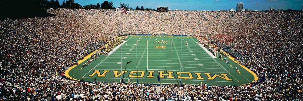 Walls 360 Peel & Stick Wall Murals: University Of Michigan Stadium (72 in x 24 in)