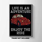 Life is an Adventure enjoy the Ride Print - VW