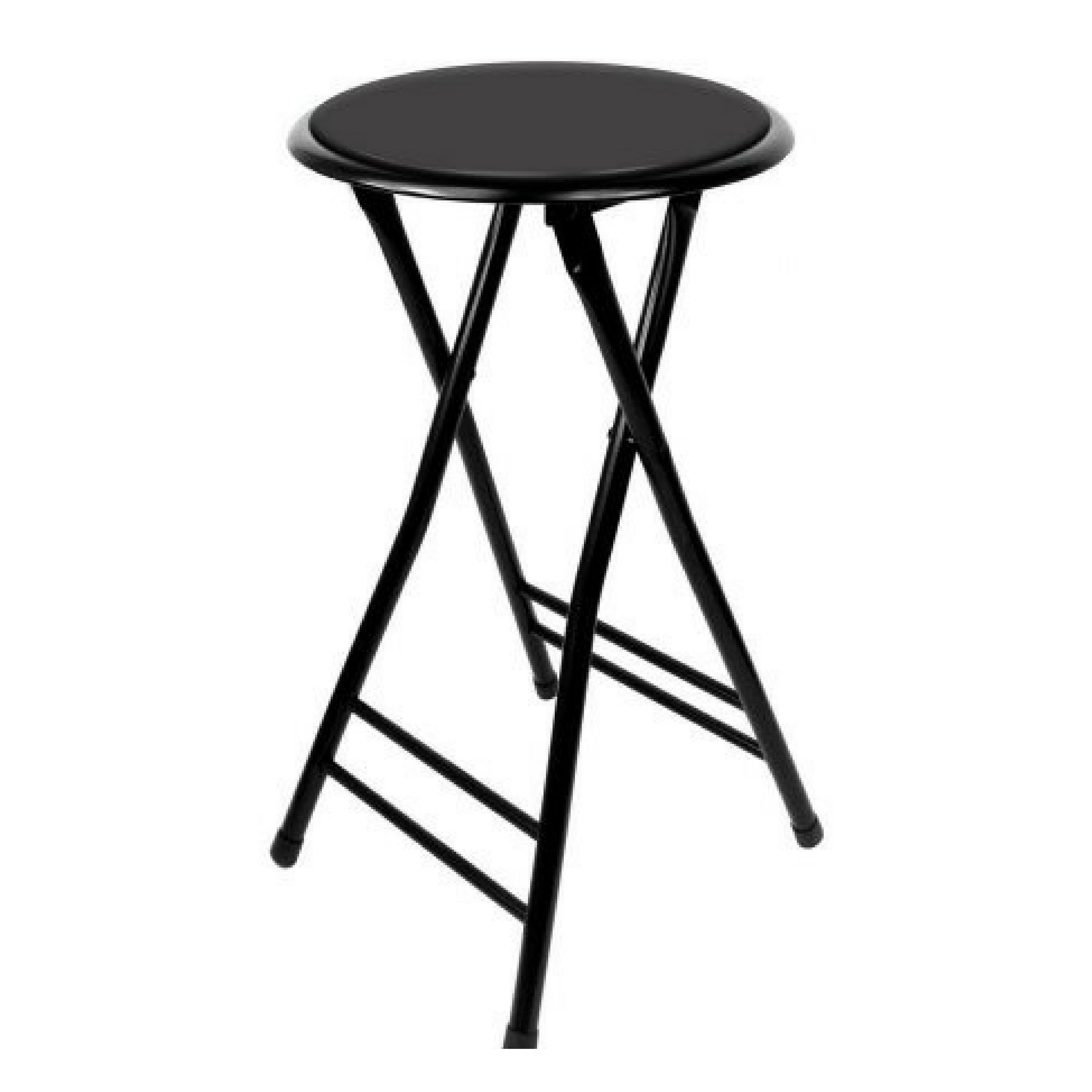 24'' Cushioned Folding Stool, Black Colors by Trademark Home Collection