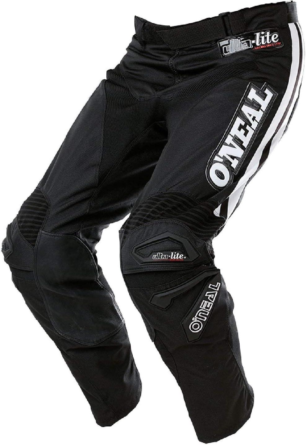 O Neal Ultra Lite 75MX DH MTB Pant Pantal/ón Largo Negro//Azul 2017Oneal