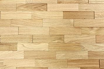 Bevorzugt wodewa Wandverkleidung Holz 3D Optik I Eiche Natur I 1m² PW63