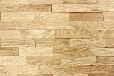 Wood Wall Cladding Oak Nature | 1m² Decorative 3D Wall Panels ...
