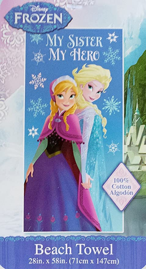 Disney Frozen 100% algodón toalla de playa (28 en X 58 en