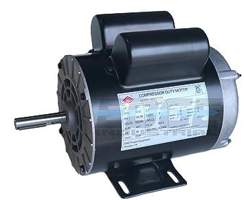 Nuevo motor eléctrico HP SPL Compresor, 3450 RPM, 56 marco, 5/8 eje de diámetro, 120/240 V: Amazon.es: Bricolaje y herramientas