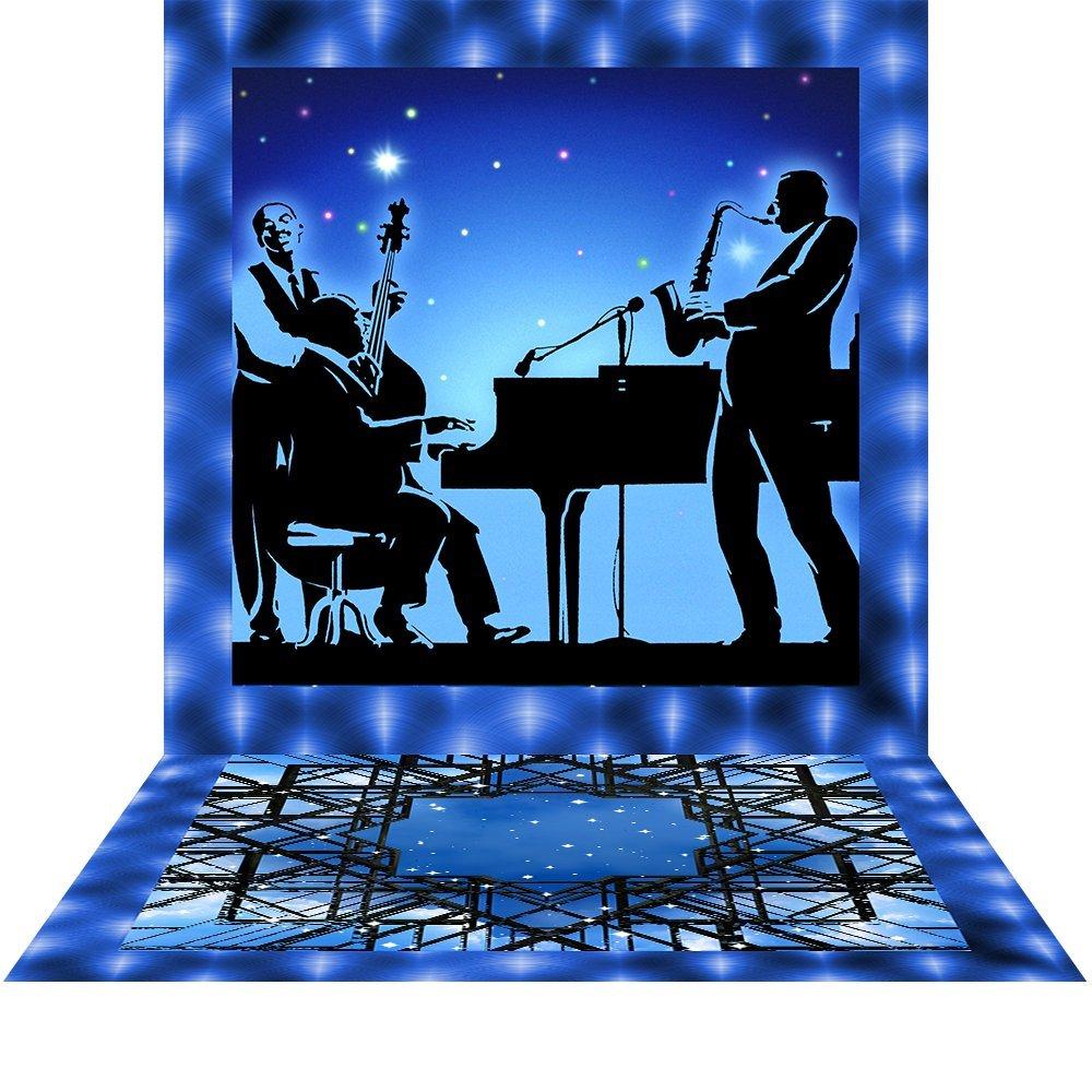 写真バックドロップwith床 – 背景音楽ブルー – 10 x 20 ft。 – 高品質シームレスなファブリック   B013CKHCKU