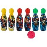 Aarushi Superman Bowling Set 6 Bowling Pins&1Ball (Print May Very)