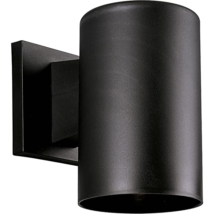 Progress Lighting P5712-31 5-Inch Non-Metallic Cylinder with Only Non-Corrosive Hardware Components Used and UL Listed for Wet Locations, Black