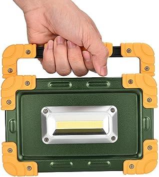 Wiederaufladbar Arbeitsscheinwerfer Arbeitsleuchte Bauscheinwerfer Wasserdicht Strahler Handlampe Tragbare Arbeitsscheinwerfer Scheinwerfer mit 3 Lichtmodi f/ür Arbeiten Ulanda LED Baustrahler 30W