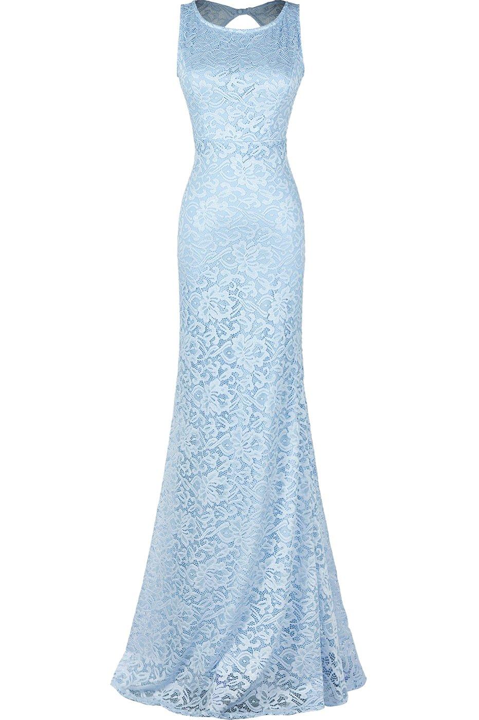 Blue Lace Evening Gowns: Amazon.com