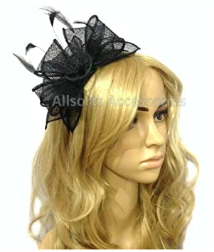 720e655e63d Allsorts Black Headband Aliceband Hat Fascinator Wedding Ladies Day Race  Royal Ascot