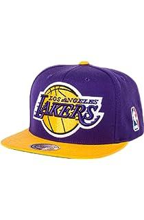 official photos 124f7 76abc Los Angeles Lakers Big Logo Purple Yellow Snapback