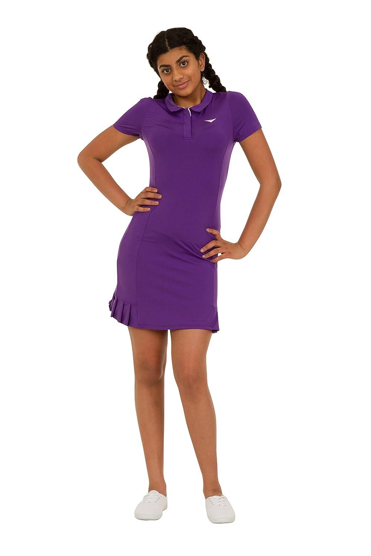 Amazon.com : Girls Purple Polo tennis dress Pleated Tennis Dress Junior Tennis Dress Girls Golf dress Kids Golf clothing Glrls Sportswear : Sports & ...