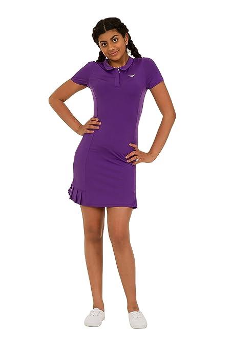 Bace Las niñas Morado Polo de Tenis para Mujer Plisado Vestido de Tenis Junior Netball Vestido