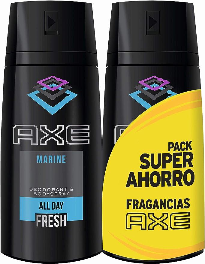 AXE Desodorante Marine Duplo Ahorro - 2 Paquetes de 2 x 150 ml ...