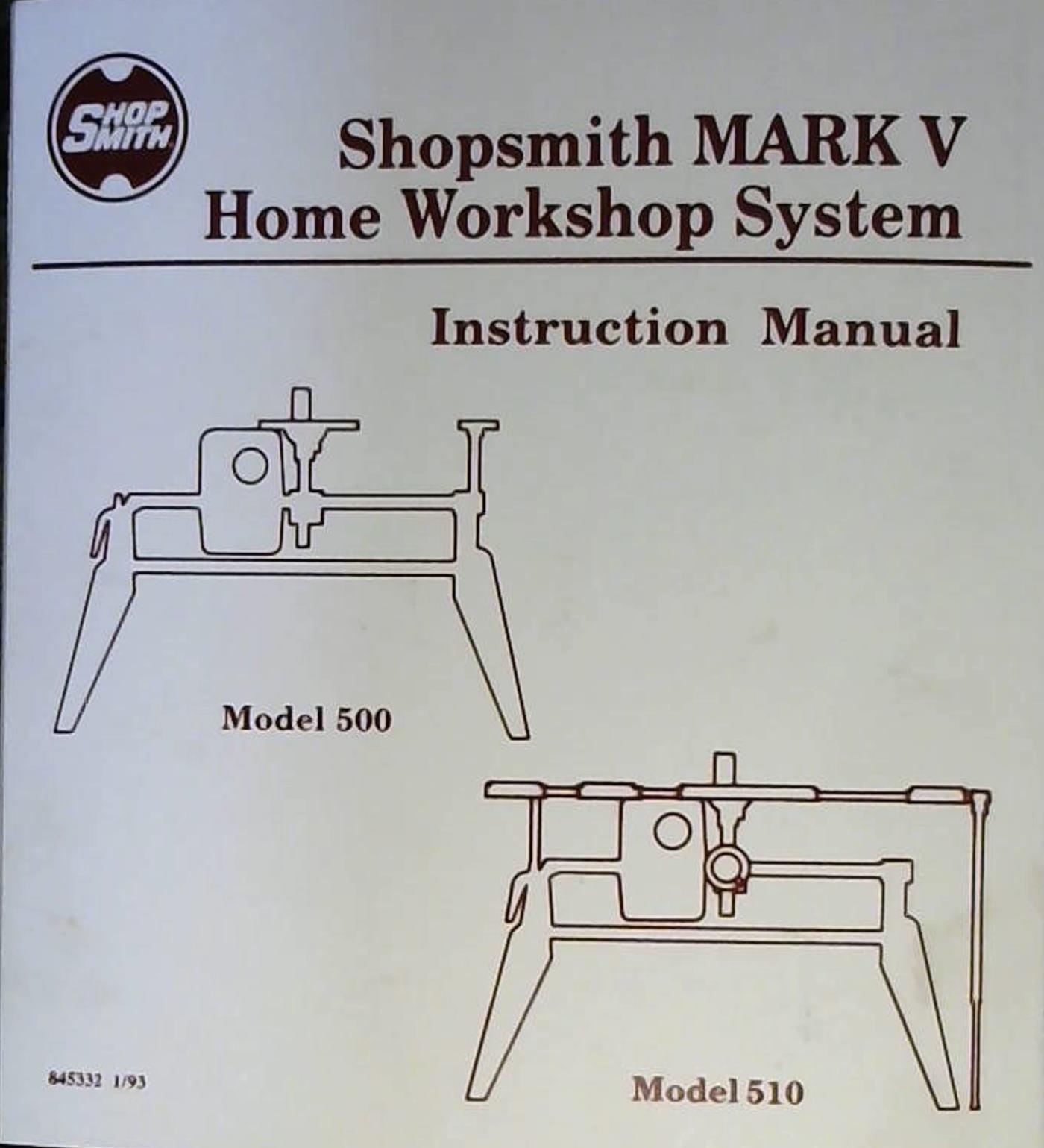 shopsmith mark v wiring diagram wiring library Refrigeration Compressor Wiring Diagram shopsmith mark v home workshop system instruction manual model 500 model 510 shopsmith