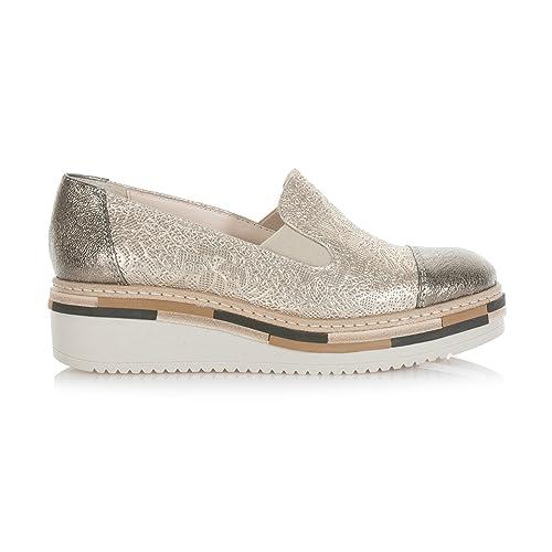 LORENZO MARI Mujer Lor020platino Mocasines Dorado Size: 39: Amazon.es: Zapatos y complementos