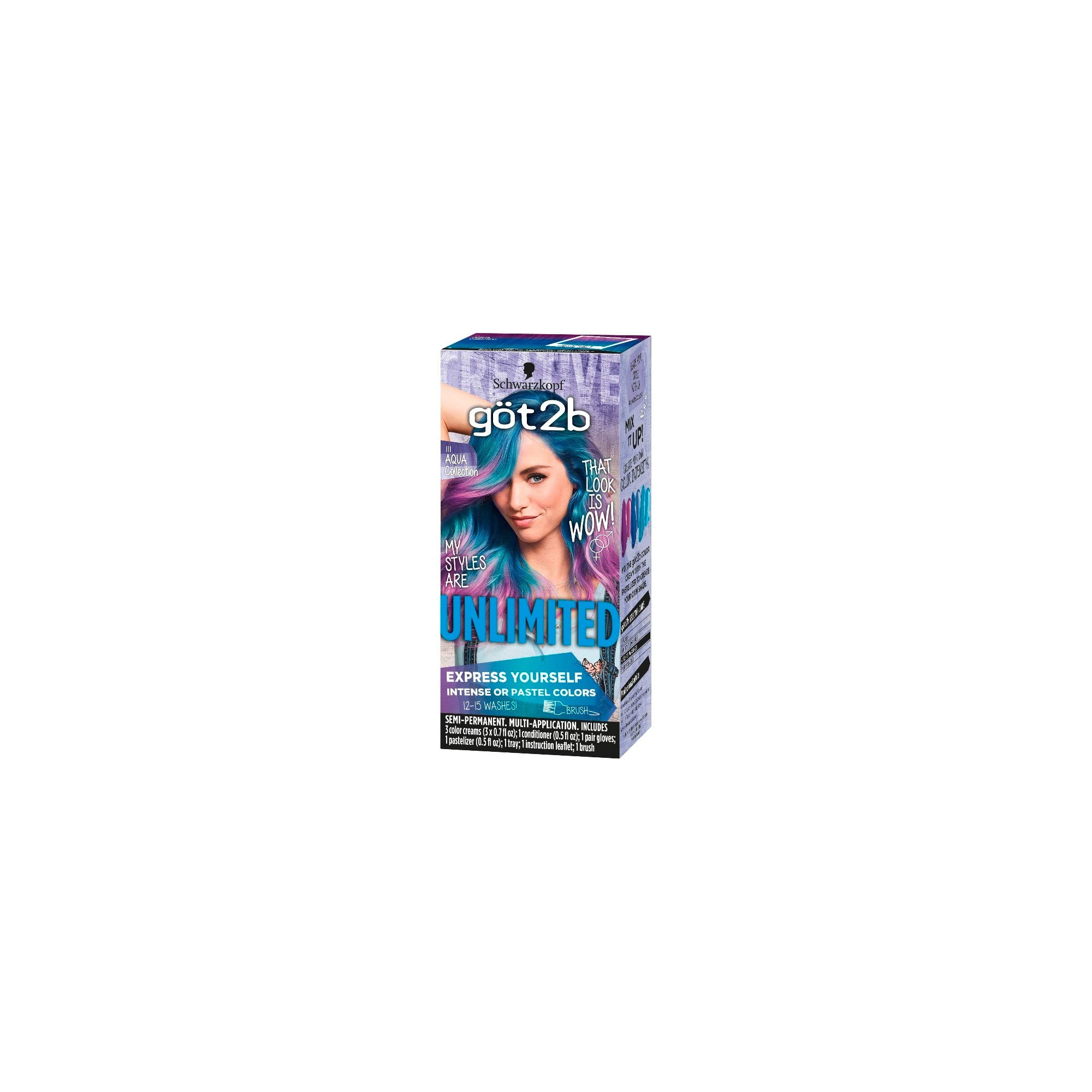 Got2b Color Unlimited Aqua Collection (Pack of 12) by GENERIC (Image #2)