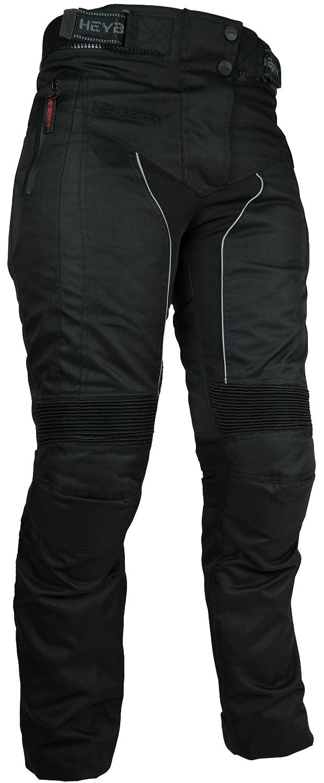 HEYBERRY Damen Motorrad Hose Motorradhose Textil Schwarz Gr. XL / 42 FG-999-G-XL