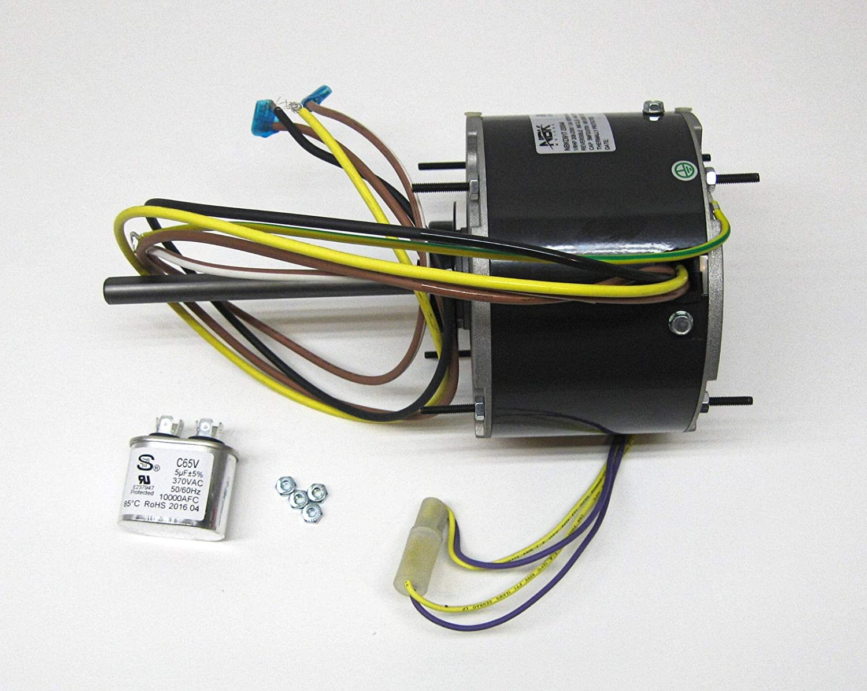 [FPER_4992]  AC Air Conditioner Condenser Fan Motor 1/6 HP 1075 RPM 230 Volts for Fasco  D917 - - Amazon.com | Ac Condenser Fan Motor Wiring |  | Amazon.com