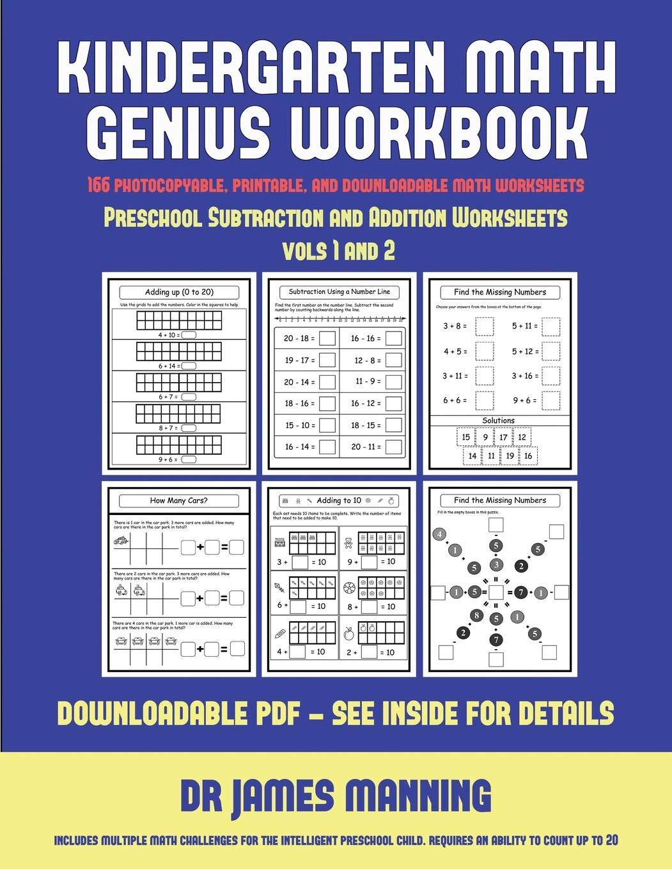 Preschool Subtraction and Addition Worksheets (Kindergarten ...