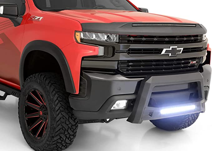 Tahoe Lund 86521214 Revolution Black Steel Bull Bar with Integrated LED Light Bar for 2007-2018 Silverado /& Sierra 1500 Escalade ESV Yukon Suburban; 07-13 Avalanche Escalade EXT; 07-14 Escalade