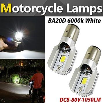 6W 6500K COB LED Bulb Head Light Lamp Low High Beam For Kawasaki