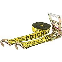 "Erickson 58541 Yellow 2"" x 40' Ratchet Strap Tie-Down with J Hooks"
