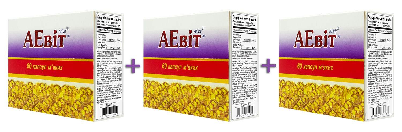 AEvit (A 100,000 IU and E Vitamins Complex) 60 softgels (3)