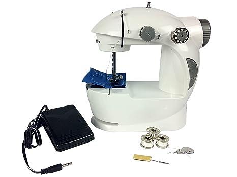 Máquina de coser Mini máquina de coser eléctrica puntada Mini velocidad portátil