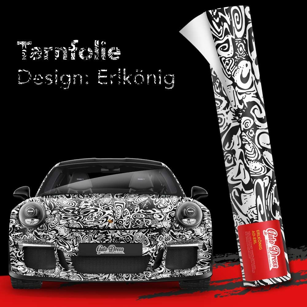 30x150cm Erlkönig Tarnfolie Für Prototypen In Glanz Folie Mit Luftkanäle Für Blasenfreies 3d Wrapping Auto