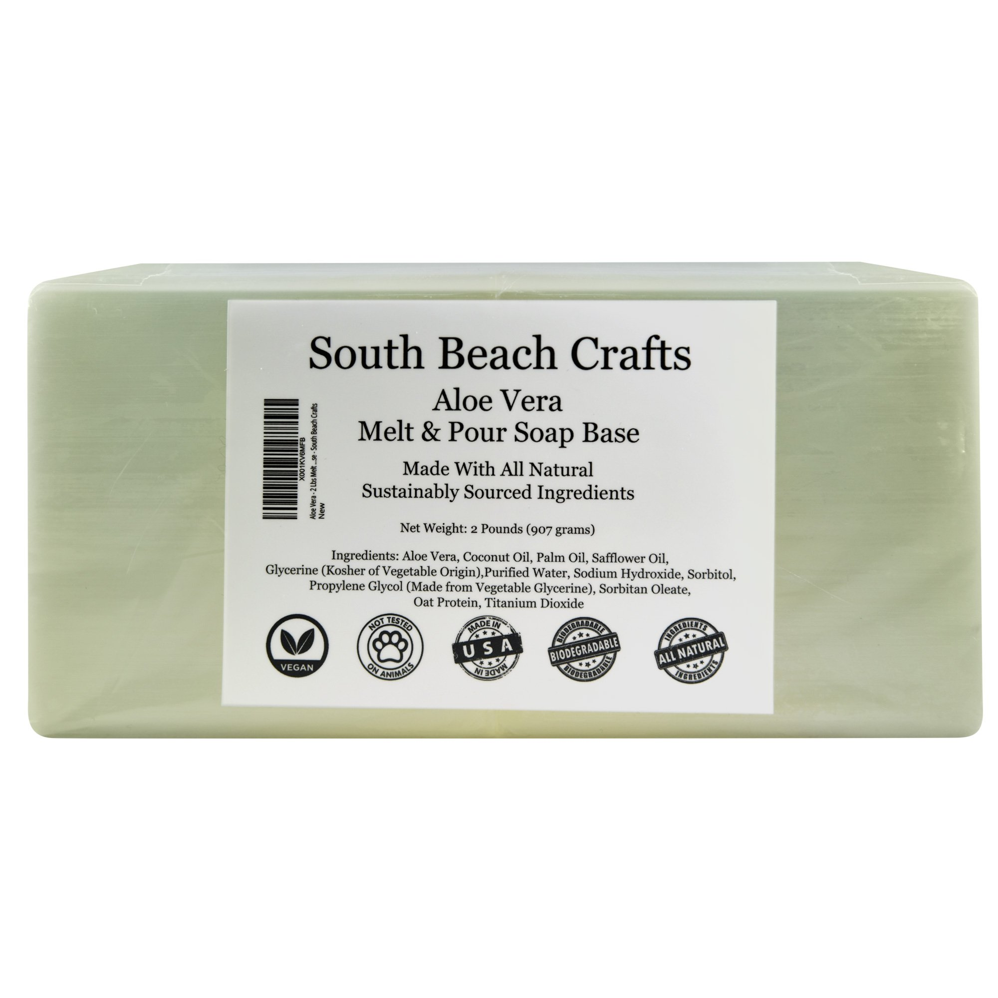 Aloe Vera - 2 Lbs Melt and Pour Soap Base - South Beach Crafts