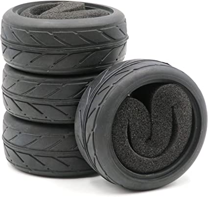 24pcs 1//10 Rally on road Tires Tyres Fit RC 1:10 Touring On Road Car wheels Rims