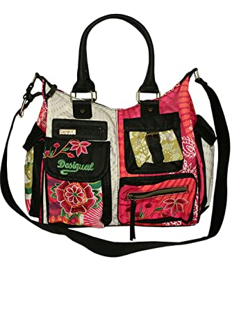 in stock first look crazy price Desigual Damen Tasche London Floreada 41X5179-3001: Amazon ...