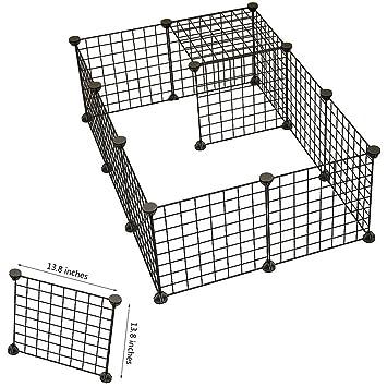 Dog Animal Playpen Portable Large Metal Wire Yard Fence 12 Panels ...