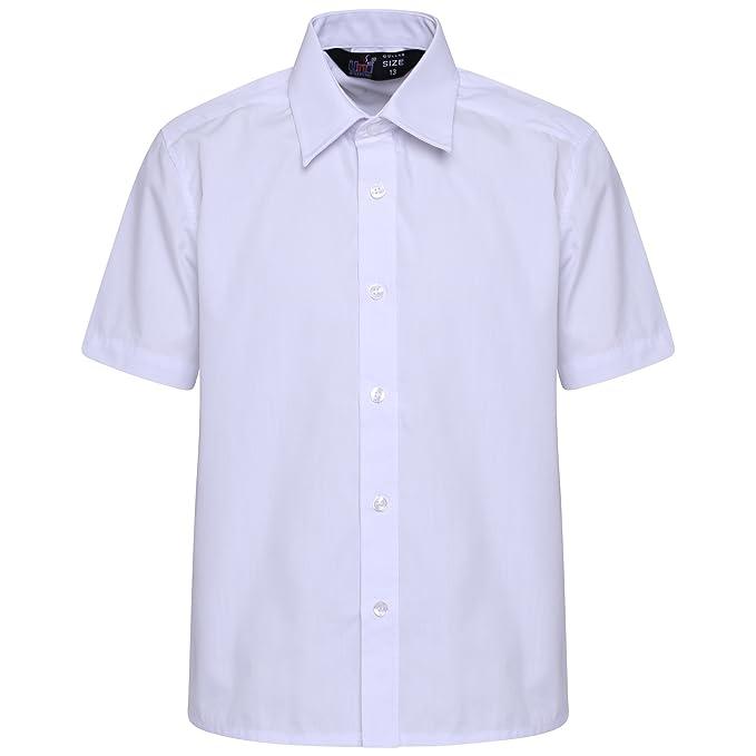 f9a20ebc050 Linen Galaxy Kids Girls Women White Short Sleeve School Uniform Shirt  Blouse  Amazon.co.uk  Clothing
