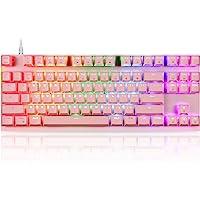 MOTOSPEED Professional Gaming Mechanical Keyboard RGB Rainbow Backlit 87 Keys Illuminated Computer USB Gaming Keyboard…