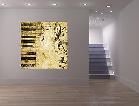 Bilderdepot24 Fototapete Selbstklebend Grunge Musik 200x200 Cm Moderne Wand Deko Dekoration Wohnung Wohnzimmer Wandtapete Amazon De Kuche Haushalt
