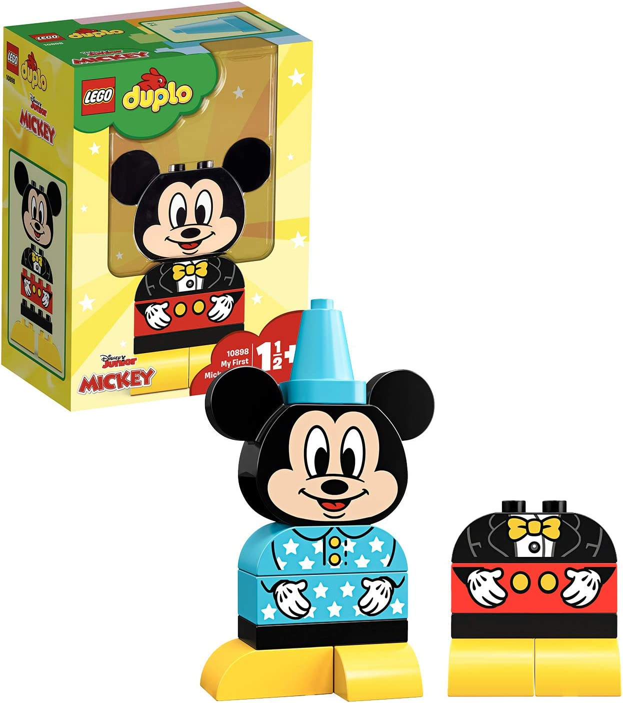 LEGO DUPLO Disney - Mi Primer Modelo de Mickey, Juguete Preescolar ...