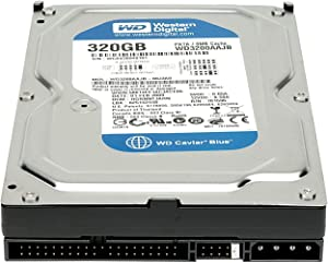 WD Blue 320 GB Desktop Hard Drive: 3.5 Inch, 7200 RPM, PATA, 8 MB Cache - WD3200AAJB (Renewed)