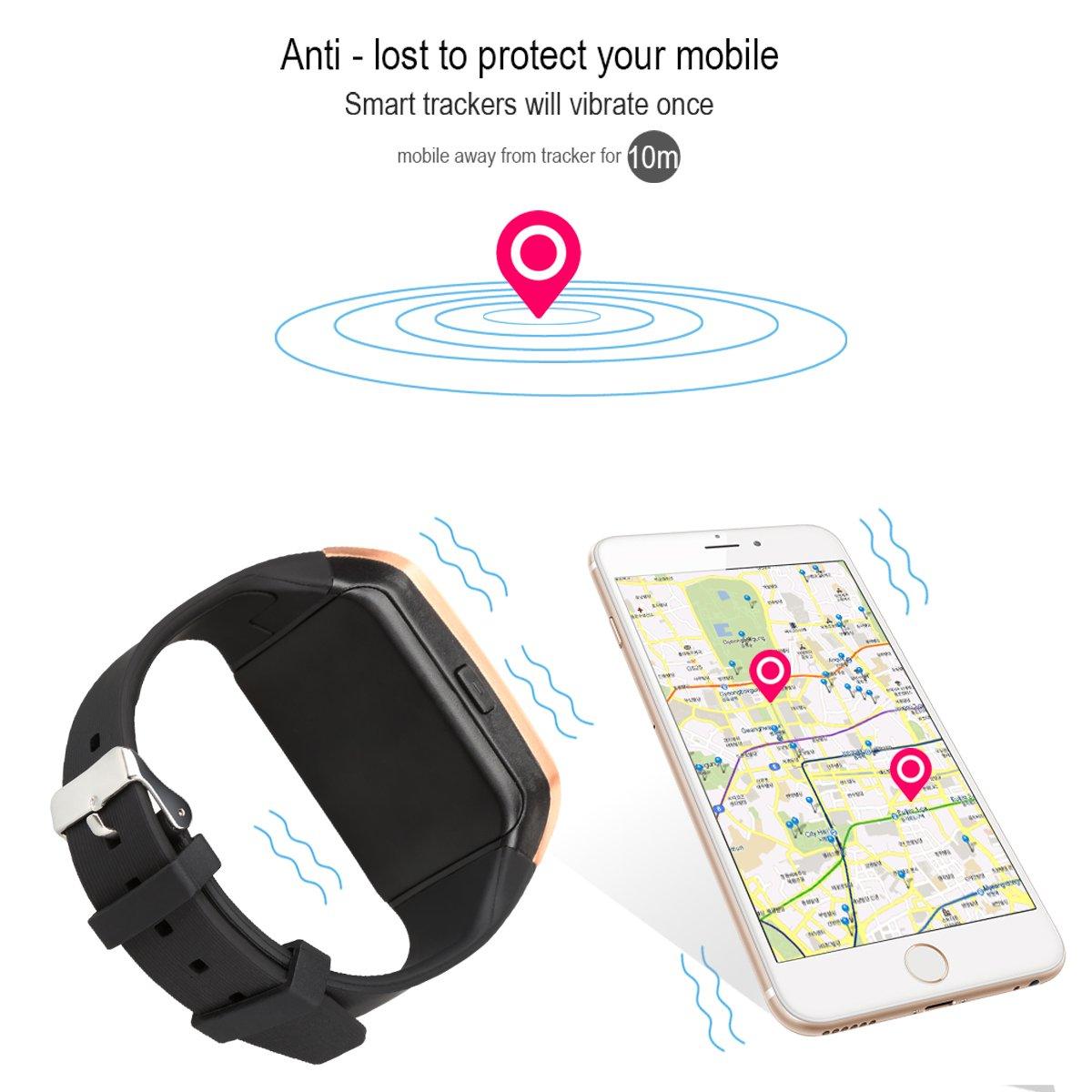 Padgene Q18 Reloj inteligente con cámara, Bluetooth, ranura para tarjeta SIM 2.0 y tarjeta TF, compatible con una amplia gama de smartphones, 03PG0155BKGD, ...